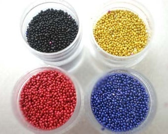 Fake Sugar Sprinkles / Micro Marbles (Ruby Red)- for Miniature Food Deco and Nail Art