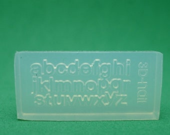 M35 Flexible Mold/Mould - 26 in 1 - Small Alphabets for Making Miniature Food / Doll House Deco / Jewelry Making /Nail Art