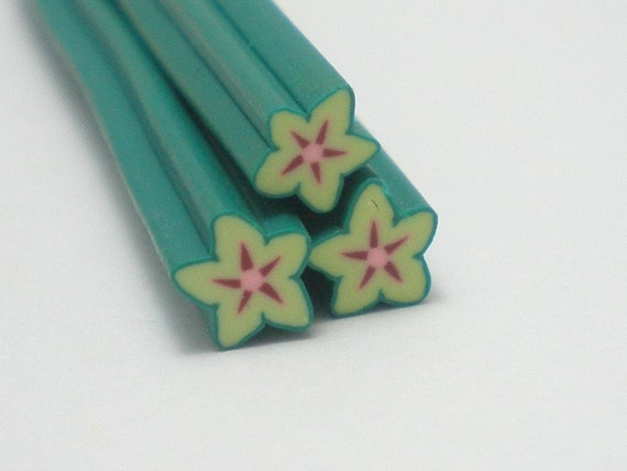 S106 Fruit - Star Fruit IV - Polymer Clay Cane for Miniature Food Deco and Nail Art