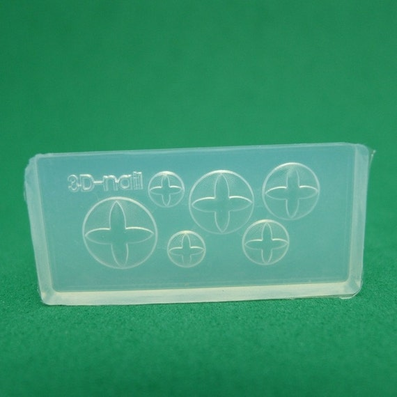 M27 Flexible Mold/Mould - 6 in 1 - Hot Cross Bun for Making Miniature Food / Doll House Deco / Jewelry Making /Nail Art