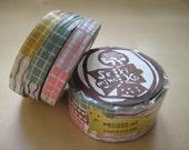 Japanese Masking Tape-Washi Tape-Decorative Tape- 3 roll set-TEXTILES