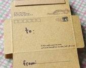 Kraft Envelope-Kraft Note Set-DIY Envelopes-set of 50-Travel theme