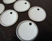 Tag-Metal Rimmed-White Paper Tags-white-Set of 10