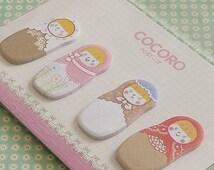 Stickers-Embellishment-Matryoshka Doll-Scrapbooking-Packaging-Paper label-Organization