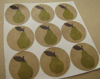 Stickers,Labels,Scrapbook Embellishment,Envelope Seals-Pear