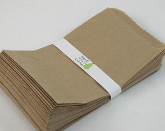 kraft sack Merchandise Bags kraft bag brown bag set of 100 8 x 5