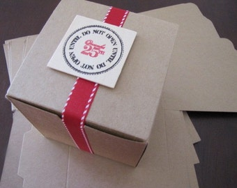 Kraft Gift Boxes-Favor Boxes-Set of 10 4 x 4 x 4 inches