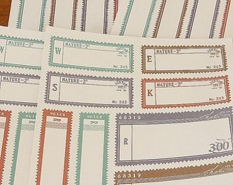 Stickers-Labels-Deco Stickers-Set of 4 sheets-Vintage Style-2 sheet designs