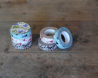 Washi Tape-Japanese Masking Tape-Washi Tape-Little Birdie 3 roll tape set