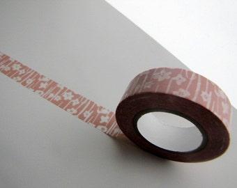 Japanese Masking Tape-Washi Tape-Single Roll-Pink Garden