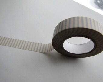 Japanese Masking Tape-Washi Tape-Deco Tape-Light Blue and Cream Stripe-Single roll-scrapbooking-embellishment