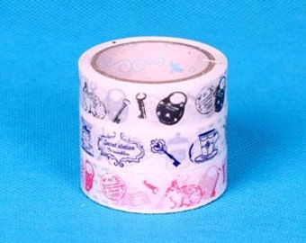 Tape-Deco Tape-Vintage Findings-3 Roll set-Super cute sticker tape