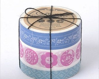 Tape-Washi Tape-Masking Tape-Coffret du Courturier-3 roll tape set-BLUE