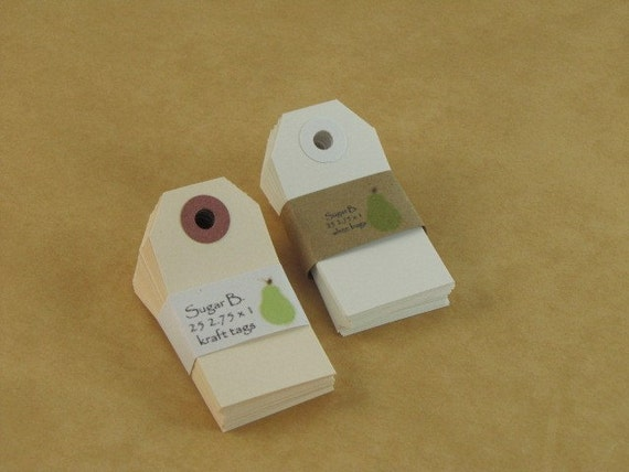 Kraft Tags-Merchandise Tags-Brown Tags-Gift Tag-25 2.75 x 1