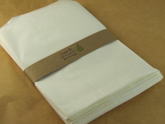 Glassine Bags set of 100- 5.5 x 7.75
