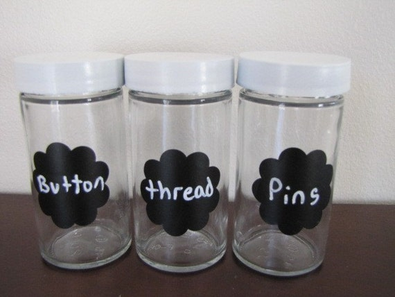 SALE-Buy 2 Chalkboard Labels get one FREE-Scalloped Round-Set of 10-1.5 inches