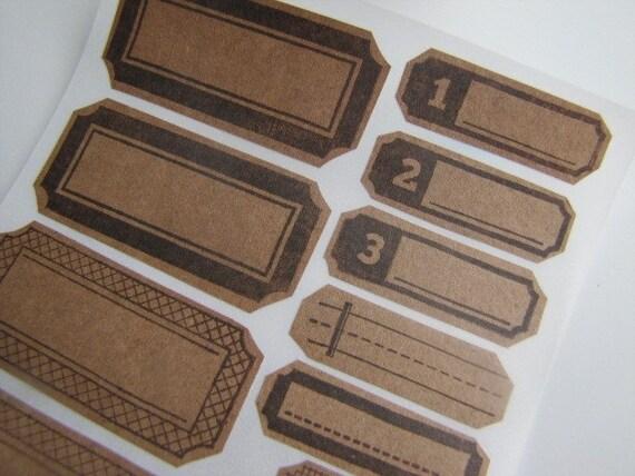 Sticker-Envelope Seal-Label-Scrapbooking Embellishment-KRAFT LABELS