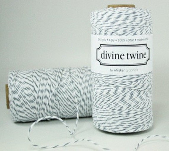 Bakers Twine Wedding Invitation: Items Similar To Divine Twine-Bakers Twine-Oyster Gray-for