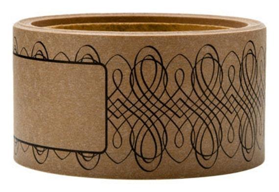 Tape-Shipping Labels-Mailing Label-Packing Tape-Envelope Wrap-design 3 kraft and black
