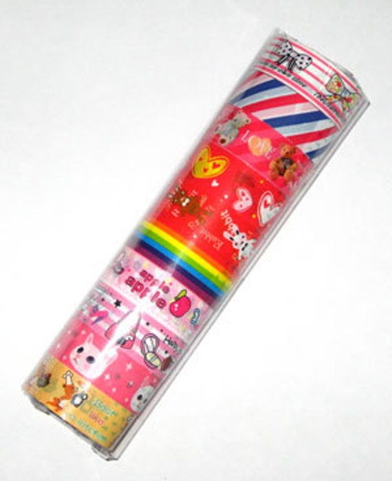 Tape-Sticker Tape-Deco Tape-airmail-rainbow-packaging-wrapping
