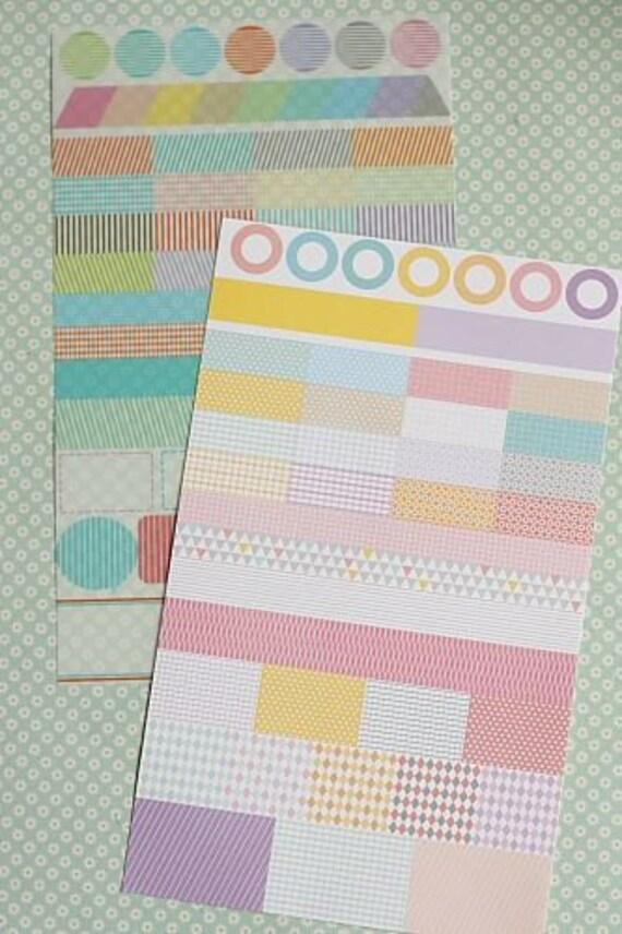 Washi Tape Sticker-Stickers-Labels-Deco Stickers-Embellishment-Scrapbooking