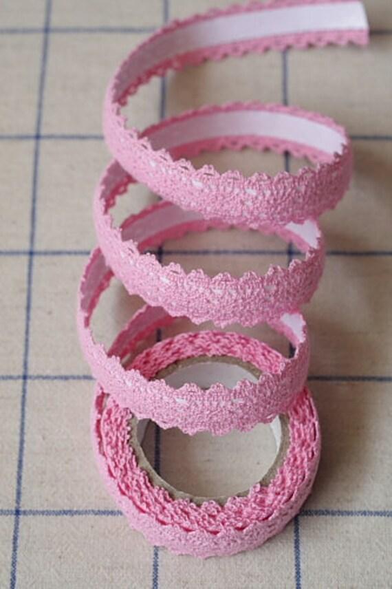 Lace Tape-Tape-Lace-Pink Lace-Embellishment-Scrapbooking-Decor