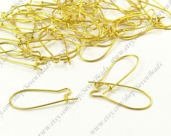20pcs gold-plating brass Kidney earwire  hook 10x26mm