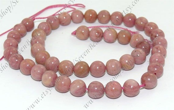 Single 8mm Rhodochrosite round stone beads loose strand