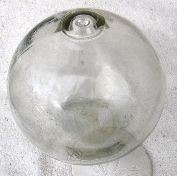 "American Made Glass Fishing Float - Owens-Illinois, Duraglas, Authentic, 5"" Diameter"
