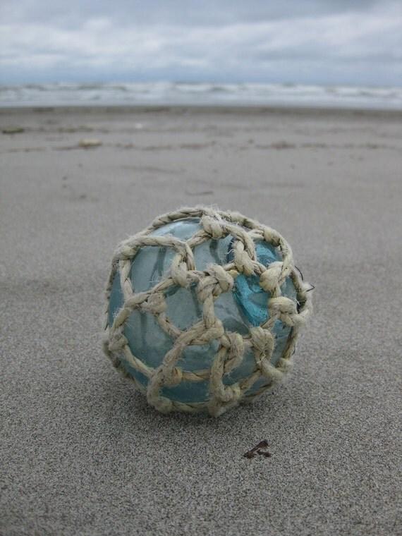 Japanese Glass Fishing Float - Original Net, Alaska Beachcombed