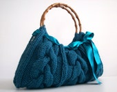 NzLbags Handmade - Handbag - Shoulder Bag - Everyday Bag-Green Knitted Nr - 0106