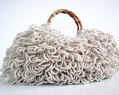 NzLbags Handmade - Everyday Bag - Crochet Handbag Shaggy Beige Nr - 0103