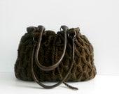 NzLbags New - Brown Knit Bag, Handbag - Shoulder Bag, Leather Strap Nr-0193