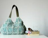 Crochet bag - handmade purse, Shoulder Bag Nr-0233 SALE OFF 20%,