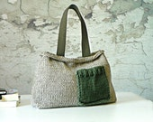 Knit women handbag, fall autumn Fashion, NzLbags - Pastel color Knit Bag, Women Handbag - Shoulder Bag