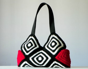 Crochet Bag, granny square crochet purse, women fashion - Shoulder Bag SALE OFF 20%,