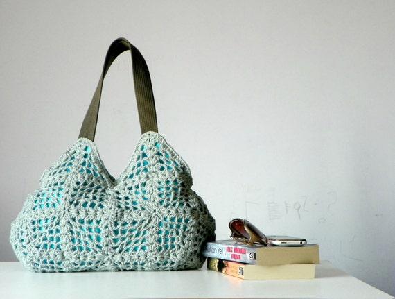 Crochet bag - handmade purse, Shoulder Bag Nr-0233 SALE OFF 20%,