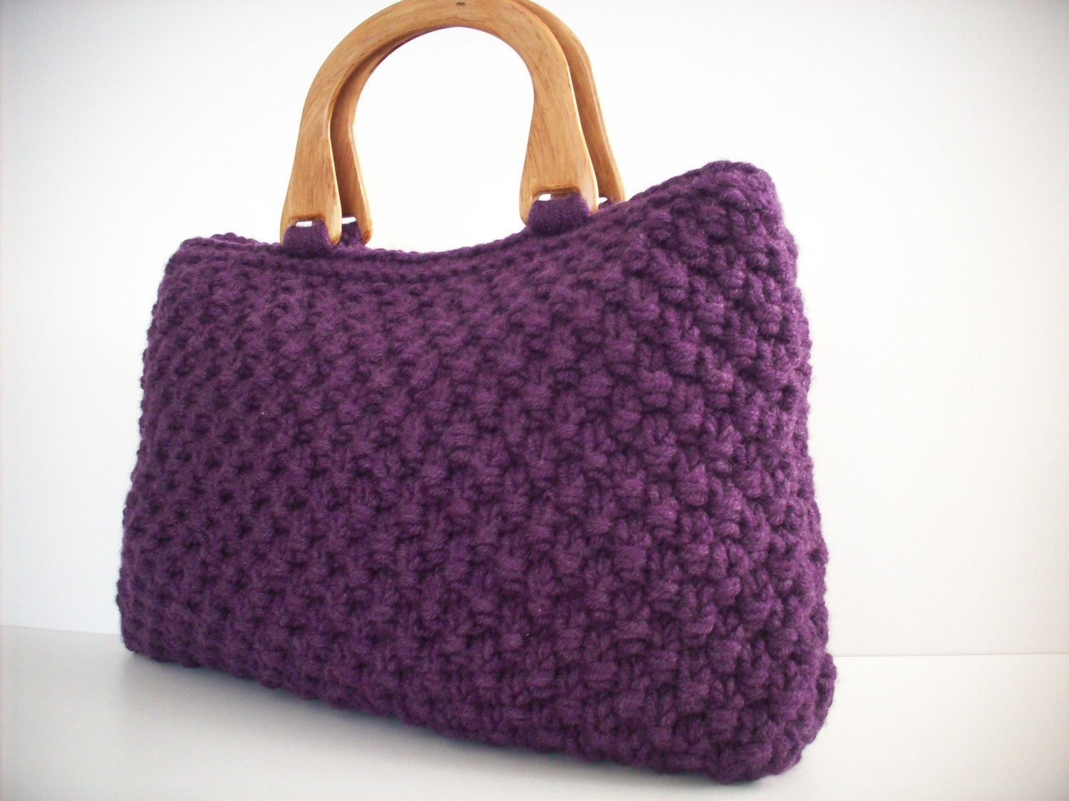 Knitting Pattern Lavender Bag : NzLbags Handbag Knitted Bag Nr-057 Purple