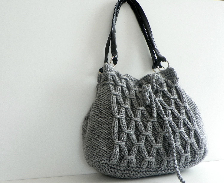 SALE OFF 15% NzLbags New Gray Knit Bag Handbag Shoulder
