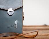 Vintage Leather and Chrome Camera Bag, Shabby Chic Purse, Handbag