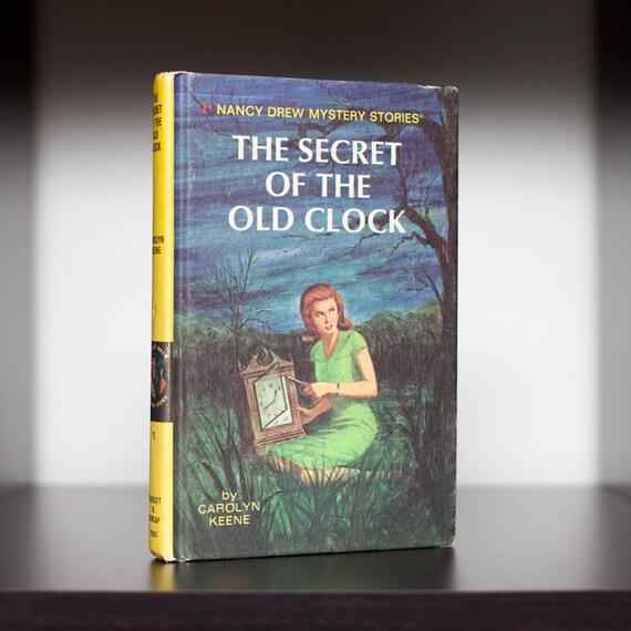 Vintage 1959 HC Nancy Drew Mystery 1 - Secret of the Old Clock