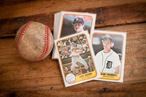 Vintage 1981 Fleer Detroit Tigers Baseball Card Team Set, Kirk Gibson RC