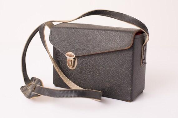 Vintage Black Camera Bag, Shabby Chic Purse, Handbag