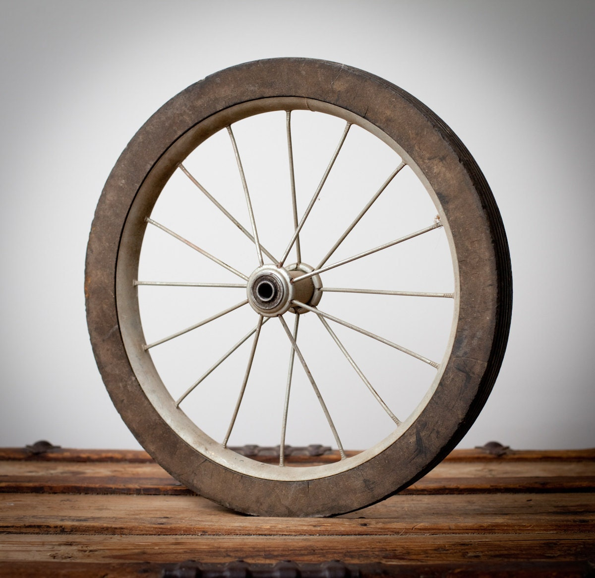 Vintage Rustic 16 Wheel Solid Rubber Tires By Timeformemories