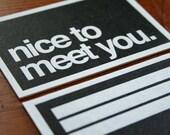nice to meet you HOWDOO business cards
