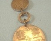 Handmade etched Copper Necklace