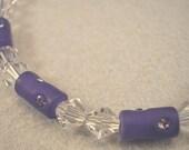 Handmade Purple Crystal Bracelet