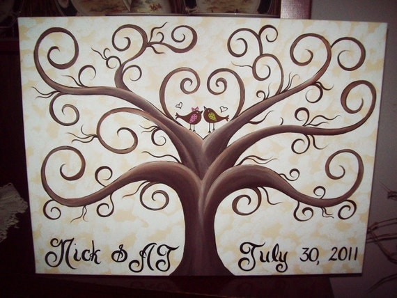 Wedding Thumbprint Guest Canvas.....18 x 24......125- 185  guests