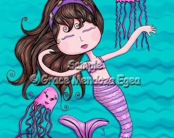 Sandra Mermaid Print