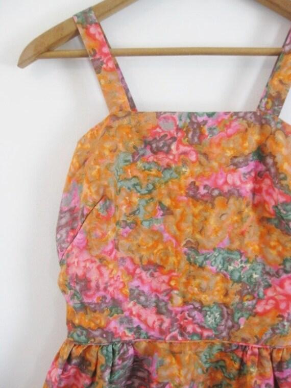 1940s-1950s PRETTY floral mini dress